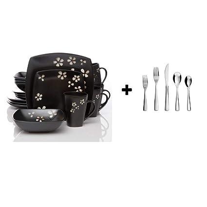 Amazoncom Better Homes And Gardens 16 Piece Dinnerware Set 16