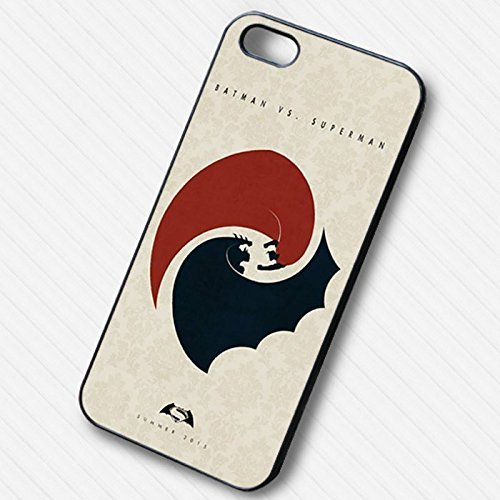 Logo Fight Batman vs Superman pour Coque Iphone 6 et Coque Iphone 6s Case (Noir Boîtier en plastique dur) U3F4OS
