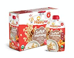 This yummy breakfast blend of organic apples, cinnamon, yogurt and oats is a great way to start your little one's day. Delicious and nutritious, each pouch provides 750mg of Omega-3s from Salba chia and 3g of fiber.