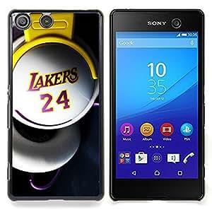 - Laker 24 Basket - - Cubierta del caso de impacto con el patr??n Art Designs FOR Sony Xperia M5 Queen Pattern