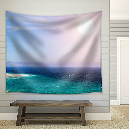 wall26 - Sandy Beach on the Island of Fuerteventura, Canary , Spain - Fabric Wall Tapestry Home Decor - 51x60 inches by wall26