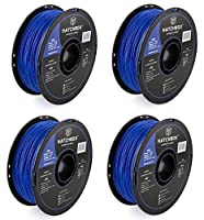 HATCHBOX 3D ABS-1KG1.75-BLU ABS 3D Printer Filament, Dimensional Accuracy +/- 0.03 mm, 1 kg Spool, 1.75 mm, Blue from HATCHBOX