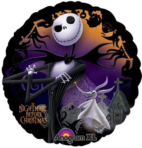 amazoncom nightmare before christmas 18 foil balloon by disney toys games