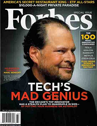 Forbes September 13, 2016 Marc Benioff Tech's Mad Genius
