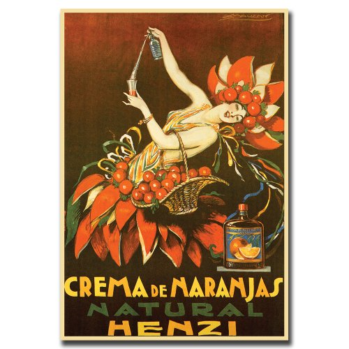 Crema de Naranjas Natural Henzi by Achille Mauzan, 26x32-Inch Canvas Wall Art