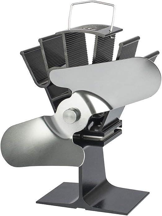 zhoujinf 2 aspas Ventilador de Chimenea de Aluminio silencioso de ...