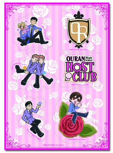 Great Eastern Entertainment Ouran High School Host Club Group Stickers Set