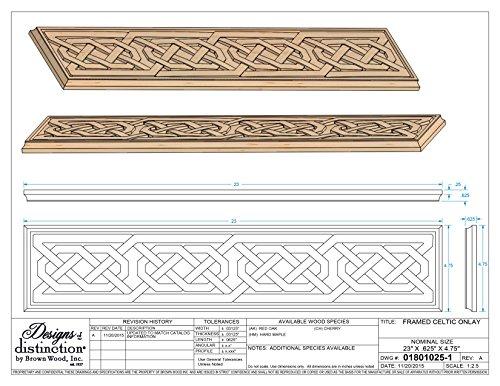 Framed Celtic Carved Wood Onlay, Red Oak by Designs of Distinction (Image #3)
