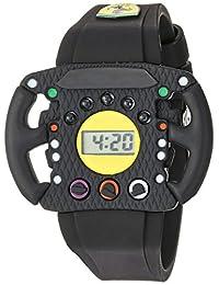 Ferrari Quartz Resin and Silicone Casual Watch, Color:Black (Model: 0810013)