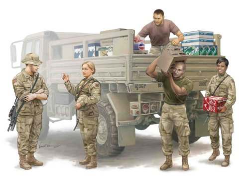 Trumpeter Modern US Soldiers Logistics Supply Team Figure Set, Scale 1/35, 5-Pack