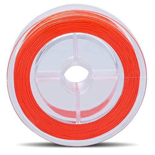 Sougayilang Fly Fishing Line, Braided Lines, Saltwater Freshwater Salmon Backing Line, Tippet Tapered Leader Test 20lb 30lb 100yards