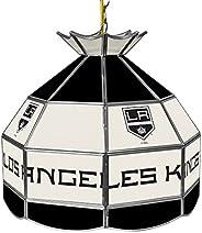 Trademark Gameroom NHL 16 Inch Handmade Tiffany Style Lamp-Los Angeles Kings