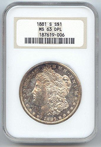 1881 S Morgan Dollar MS-63 NGC DPL