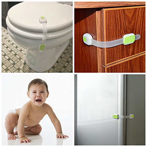Baby Safety Locks Kit(48 pack)- Contain Adjusted Baby Safety Locks&Cabinet Lock&Safe Edge and Corner Cushion&Outlet Plugs&Door Stopper Cushion-Easy to Install & Remove - Premium Quality!
