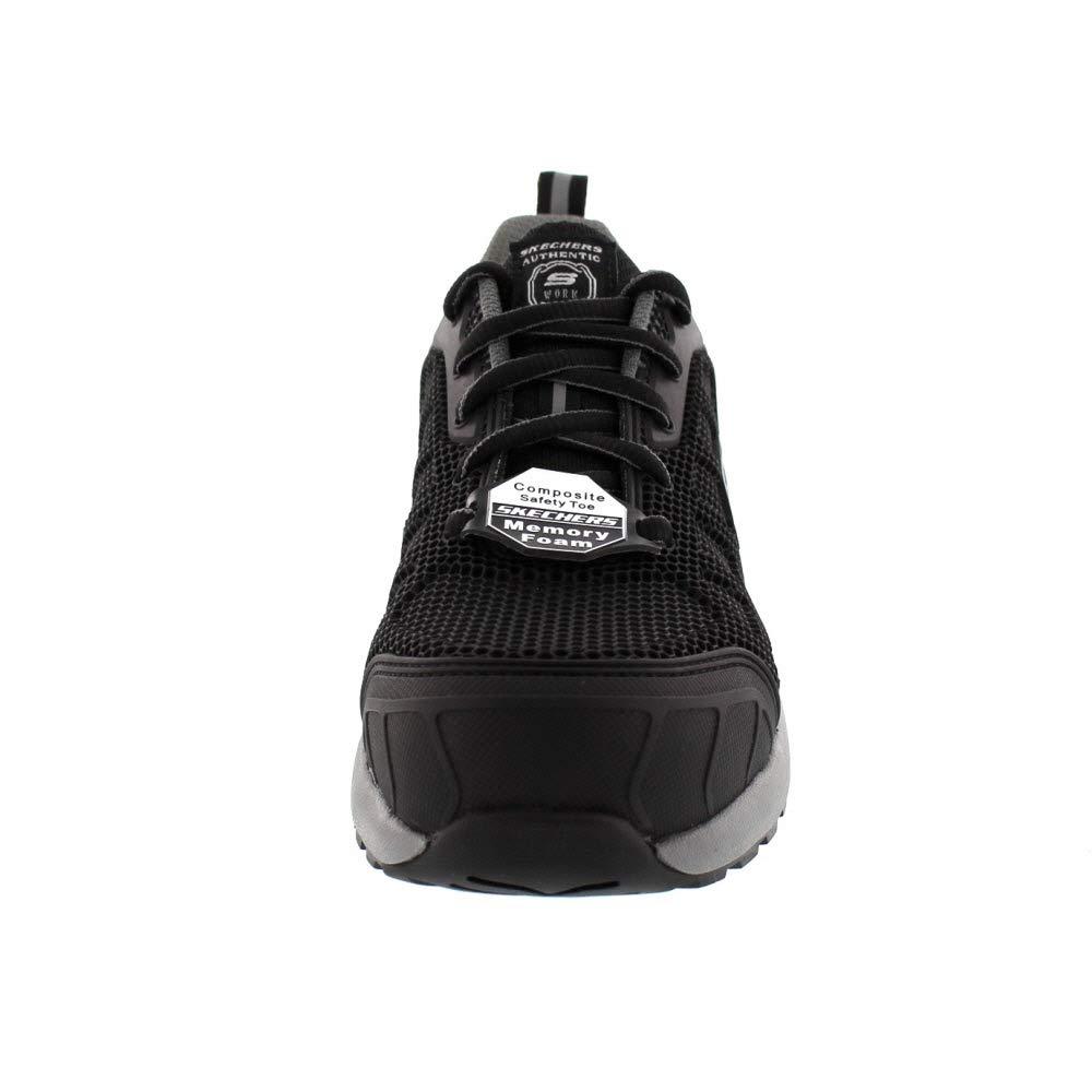 Black Grey Skechers Work Damen BULKLIN LYNDALE 77273EC