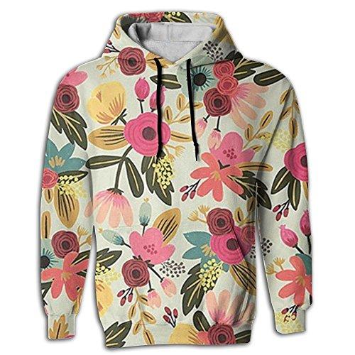 Men's Hoodie Elegant Sportswear Digital Print Spring Season Flower - Shopping Park Meadows