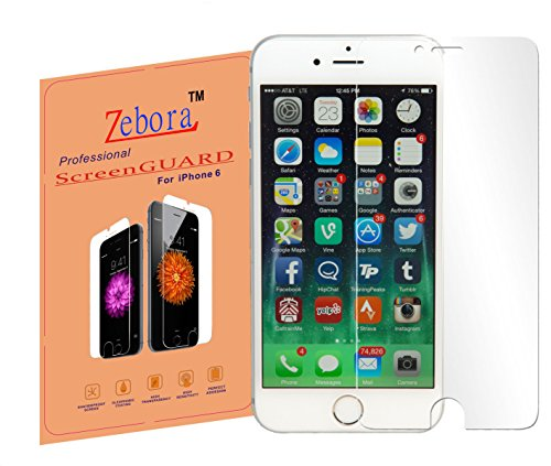 Zebora HD Clear Premium Screen Protectors for iPhone 6/6S