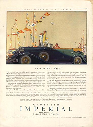 This is The Life! Chrysler Imperial Convertible Sedan ad 1932 HBz