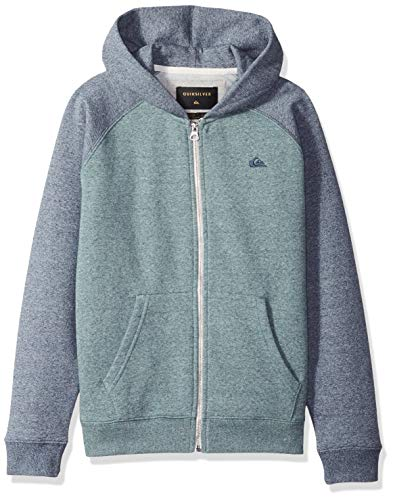 Quiksilver Pullover Sweatshirt - Quiksilver Big Boys' Everyday Youth Zip up Jacket, Tapestry Heather, L/14