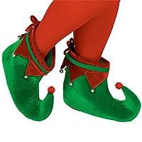 Zapatos de tela Elf | Traje de fiesta de navidad