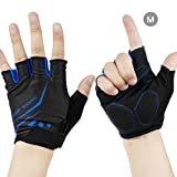 LEMEGO Sports Gym Gloves Mitten Fitness Training Exercise Weight Lifting Half Finger Body Workout Sweat-absorbent Glove For Men Women With Wrist Support