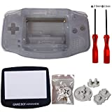 Case Shell Cover Housing Pack with Screwdriver and Conductive Rubber Pad for Gameboy Advance GBA