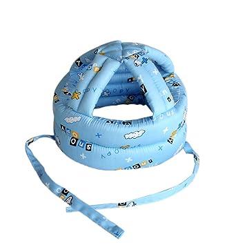QETU Casco De Seguridad para Bebés Protección De Seguridad De Cabeza Blanda  Sombreros Bebés Gorro para Niños Pequeños Protección Anticolisión b02905fb333