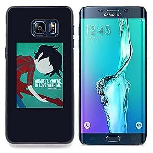 """For Samsung Galaxy S6 Edge Plus / S6 Edge+ G928 Case , La frase de cartel estrella del rock Músico Guitarra"""" - Diseño Patrón Teléfono Caso Cubierta Case Bumper Duro Protección Case Cover Funda"""