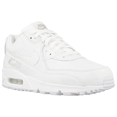 new product 904ba 3ff44 Nike Air Max 90 Triple White Size 9 UK: Amazon.co.uk: Shoes ...
