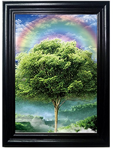 4 SEASONS FRAMED Wall Art-Lenticular Technology Causes The Artwork To Flip-MULTIPLE PICTURES IN ONE-HOLOGRAM Type Images Change--MESMERIZING HOLOGRAPHIC Optical Illusions By THOSE FLIPPING PICTURES