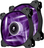 Corsair Air Series SP 120 Led Purple High Static Pressure Fan Cooling-Twin Pack (Co-9050033-WW)