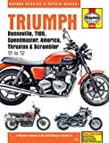 Triumph Bonneville, T100, Speedmaster, America Service and Repair Manual: 2001-2012 (Haynes Service and Repair Manuals) by Coombs, Matthew, Mather, Phil, Cox, Penny (2012) Hardcover