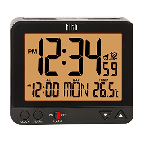 Hitoseller HITO Atomic Bedside Desk Travel Alarm Clock w/...