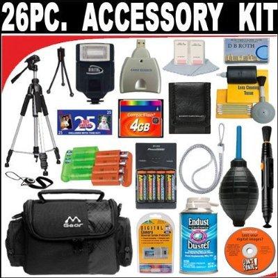 26 PC ULTIMATE SUPER SAVINGS DELUXE DB ROTH ACCESSORY KIT For The HP PhotoSmart M425, M517, M22, M23, M417, M407, M307, MZ67, M537, M437, M527, M525, M737 Digital Cameras + BONUS Gift = Waterproof Camera = Great For Kids