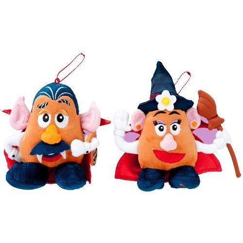 [Disney Halloween 2013] Mr. Potato Head and Mrs. Potato Head stuffed badge set [Disney Sea Limited] [Halloween Carnival 2013] -