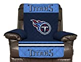 NFL Tennessee Titans Recliner Reversible Furniture Protector with Elastic Straps, 80-inches by 65-inches