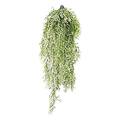 Supla 1 Pcs Artificial Flower Willow Rattan Silk Flowers Artificial Hanging Vine Plant Garland for Home Garden Wall Decoration
