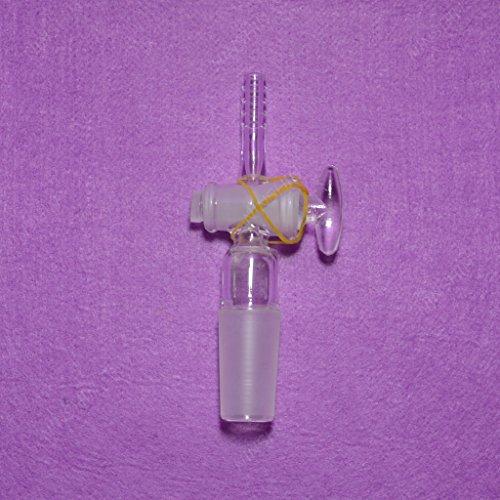 [Inlet adapter 24/40, straight, glass plug,glass valve,vacuum adapter] (Straight Inlet)