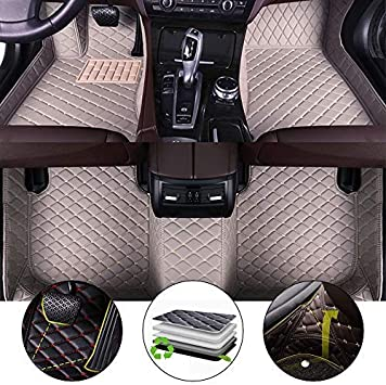 Rear Row Have air Outlet 3D Full Protection Car Accessories Black 3 Piece Set All Weather Floor Mat for 16-17 Lexus RX