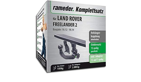 rameder Juego completo, remolque extraíble + 13POL Elektrik para Land Rover Freelander 2 (142929 - 05603 - 1): Amazon.es: Coche y moto