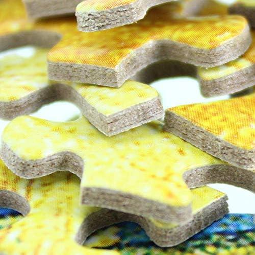 YKCKSD Puzzle 1000 Pezzi Immagine della Decorazione della Mano di qualit/à di Fiori Rossi di Paesaggio del Campo di Autunno