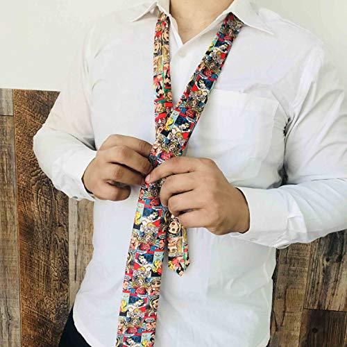 - Wonder Comic Strip Graphic Tie   Comic Con ties   Cosplay Men's and Women's Ties   Superhero print Silk Ties   Vintage Retro Print Ties