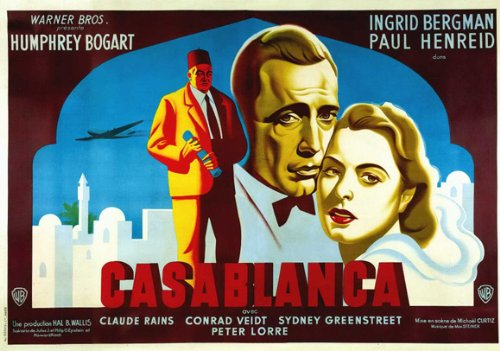 Casablanca French Movie Poster 1942