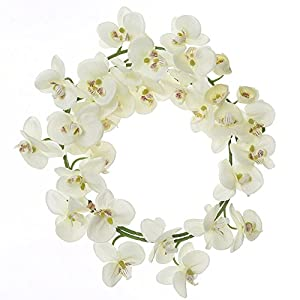 Felice Arts Artificial Flowers 6.6ft 32 Heads Butterfly Orchid Home Decor Fake Flower for Wedding Home Office Party Hotel Restaurant 1