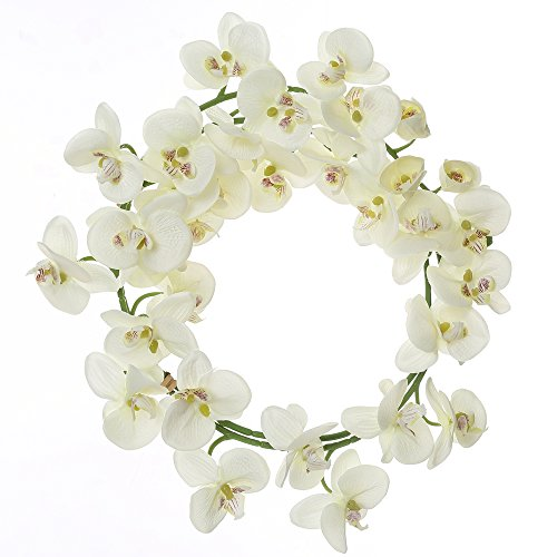 Felice Arts Artificial Flowers 6.6ft 32 Heads Butterfly Orchid Home Decor Fake Flower for Wedding Home Office Party Hotel Restaurant ()