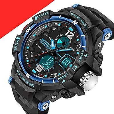 Kids Watches Outdoor Sports Children Watch Stopwatch Quartz Watch Boy Girls LED Digital Alarm Wristwatch by Wdnba