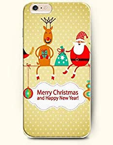 New Case Cover For Apple Iphone 6 4.7 Inch Hard Case Cover - Red Birds and Reindeer and Santa Claus Sit on the String - Merry Christmas and Happy New Year