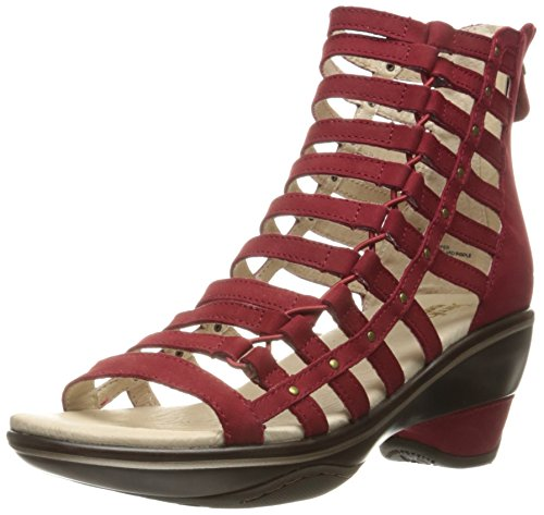 Jambu Women's Brookline Wedge Sandal - Deep Red Solid - 6...