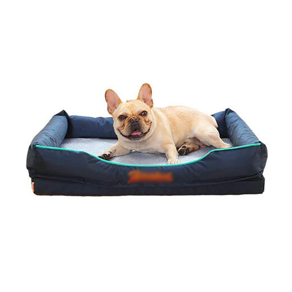 453513 Pet house kennel Small dog Medium dog Large dog Washable Pet bed pet nest Pet mat Cool Soft comfortable Four seasons available (Size   45  35  13)