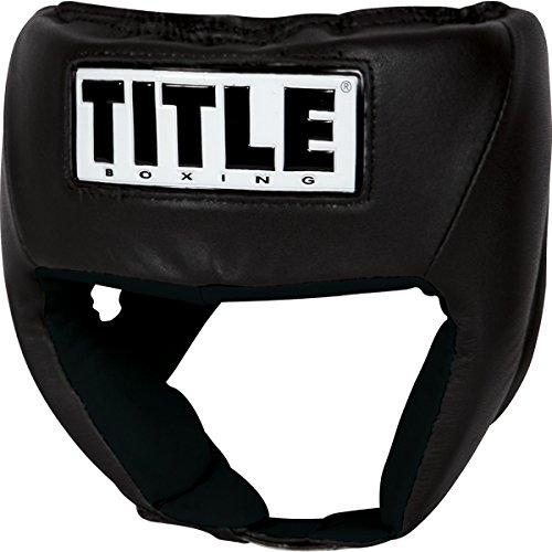 (TITLE USA Boxing Amateur Competition Headgear (Open Face), Black, Small)